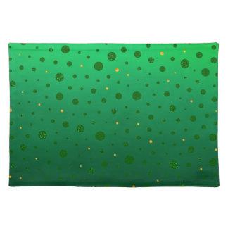 Salvamanteles Puntos elegantes - oro verde - el día de St