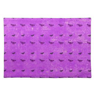 Salvamanteles Púrpura de la impresión de la mariposa