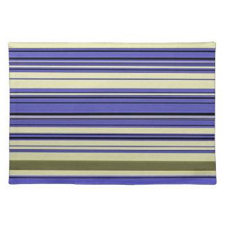 Salvamanteles Rayas - verde amarillo azul púrpura