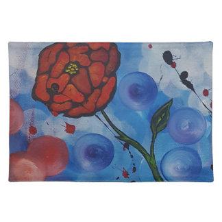 Salvamanteles rosas y burbujas