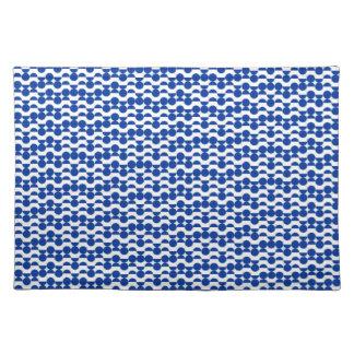 Salvamanteles semi mosaico del azul del círculo