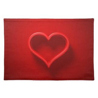 Salvamanteles Set de mesa 3D - forma de cardíaco con luz y