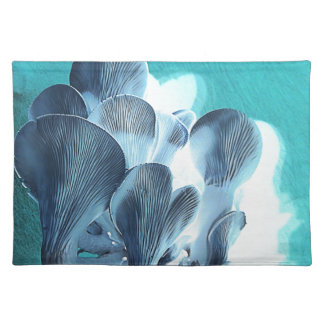Salvamanteles Setas de ostra en azul