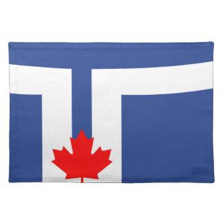 Salvamanteles Símbolo de Canadá de la bandera de la ciudad de