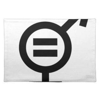 Salvamanteles Símbolo de la igualdad de género