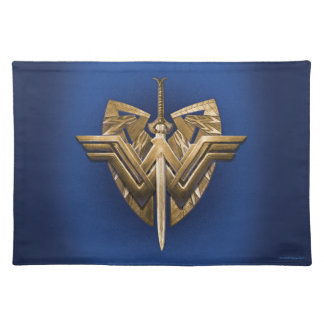 Salvamanteles Símbolo de la Mujer Maravilla con la espada de la