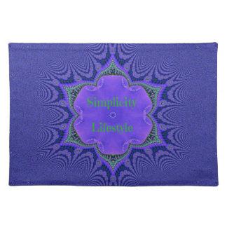 Salvamanteles Simplicidad Lifestyle de la lavanda púrpura