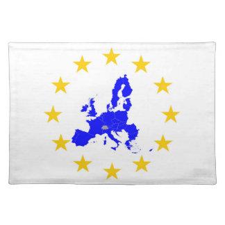 Salvamanteles Tarjeta de la unión Europea con círculo de