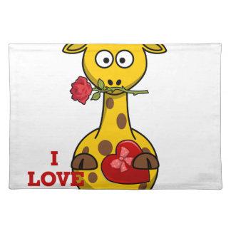 Salvamanteles te quiero jirafa