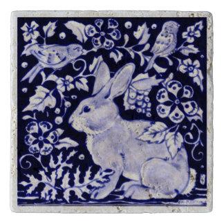 Salvamanteles Teja Trivet de la piedra del pájaro del conejo de