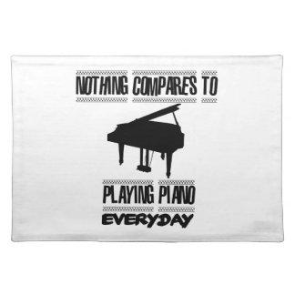 Salvamanteles Tender diseños del pianista
