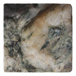 Salvamanteles Textura mineral del cuarzo blanco y negro