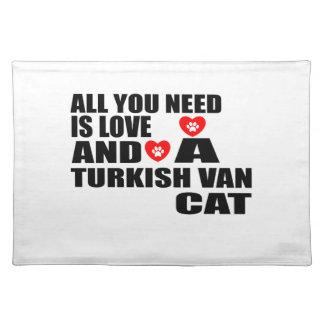 SALVAMANTELES TODO LO QUE USTED NECESITA ES LOVE TURKISH VAN CAT