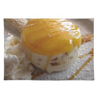 Salvamanteles Torta cubierta atasco del helado del albaricoque