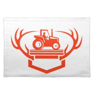 Salvamanteles Tractor de la asta de los ciervos de la cola