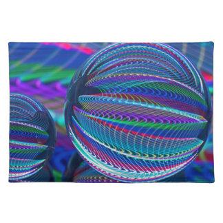 Salvamanteles Tres bolas de cristal en color
