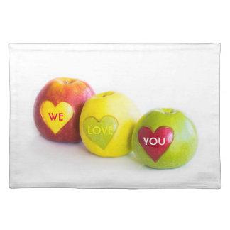 Salvamanteles Tres manzanas