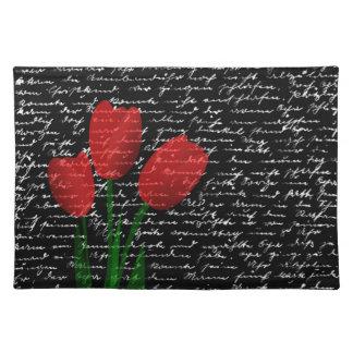 Salvamanteles Tulipanes rojos