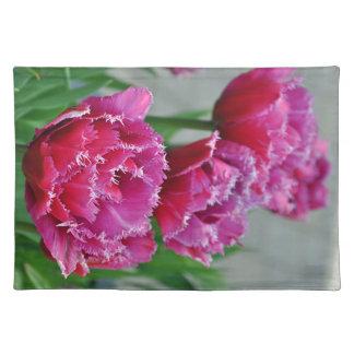 Salvamanteles Tulipanes rosados del loro