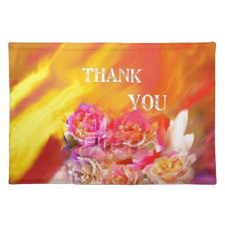 Salvamanteles Una mano de gracias tiende por completo hacia