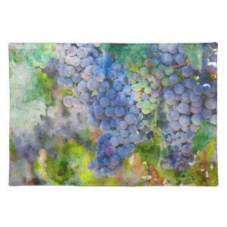 Salvamanteles Uvas de vino rojo en el viñedo