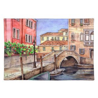 Salvamanteles Venecia - acuarela de la pluma y del lavado