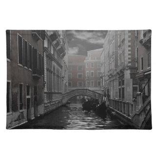 Salvamanteles Venecia en blanco y negro