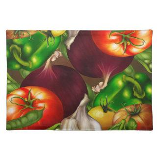 Salvamanteles Verduras y comida fresca natural orgánica de las