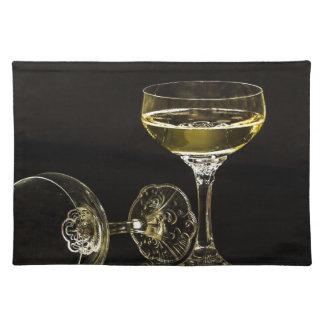 Salvamanteles vidrios del champán