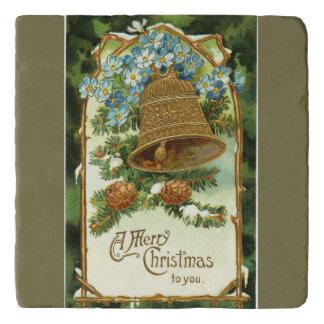 Salvamanteles Vintage Bell y Felices Navidad de Pinecones