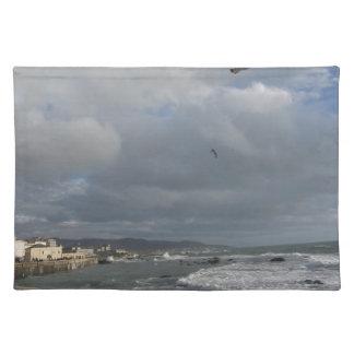 Salvamanteles Vista de la terraza de Mascagni en un día nublado