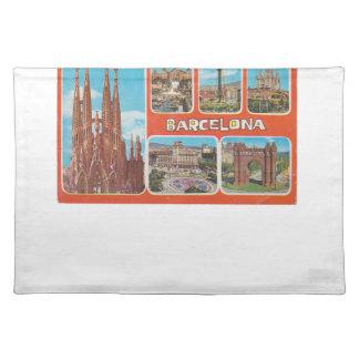 Salvamanteles Vista retrospectiva de Barcelona