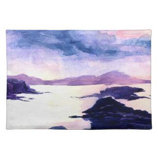 Salvamanteles Watercolour púrpura de Loch Lomond que pinta