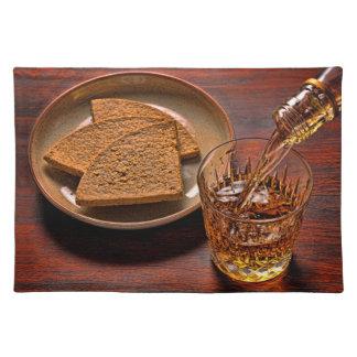Salvamanteles Whisky escocés y tortas de avena