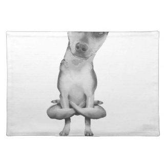 Salvamanteles Yogi Doggie cute dog in yoga asana , cool funny