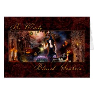 Samhain bendecido - sea tarjeta de Witchy
