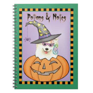 Samoyedo de Halloween Libros De Apuntes