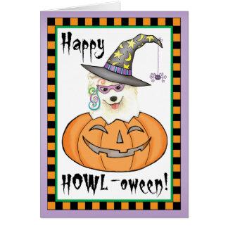 Samoyedo Halloween Tarjeta De Felicitación