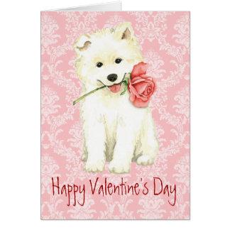 Samoyedo subió tarjeta del día de San Valentín