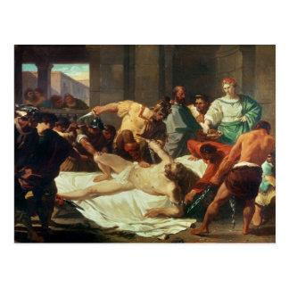 Samson traicionó por Delilah (el aceite en lona) Tarjetas Postales