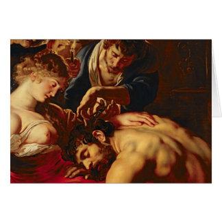 Samson y Delilah, c.1609 Tarjeta De Felicitación