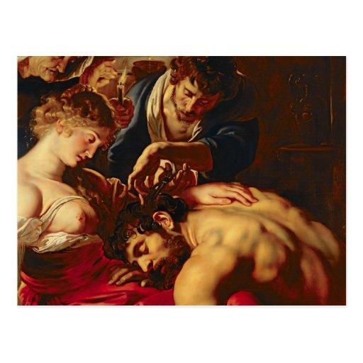 Samson y Delilah, c.1609 Tarjetas Postales