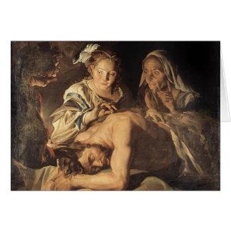 Samson y Delilah de Matías Stom Tarjeta De Felicitación