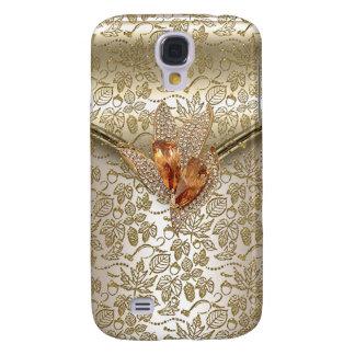Samsung Galaxy S4 Cover Ámbar beige del oro de la crema del caramelo del