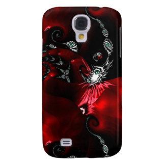 Samsung Galaxy S4 Cover Arte abstracto negro rojo