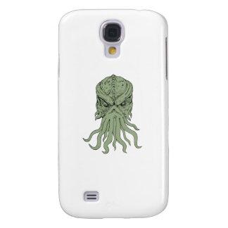 Samsung Galaxy S4 Cover Dibujo subterráneo de la cabeza del monstruo de