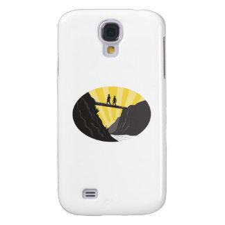 Samsung Galaxy S4 Cover Grabar en madera del óvalo del río del barranco