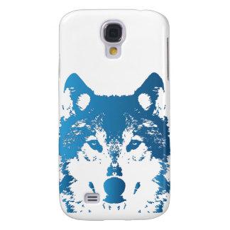 Samsung Galaxy S4 Cover Lobo de los azules claros del ilustracion