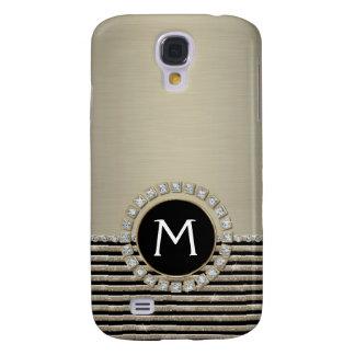 Samsung Galaxy S4 Cover Mirada horizontal moderna del brillo de la raya