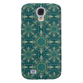 Samsung Galaxy S4 Cover Modelo floral étnico abstracto colorido de la